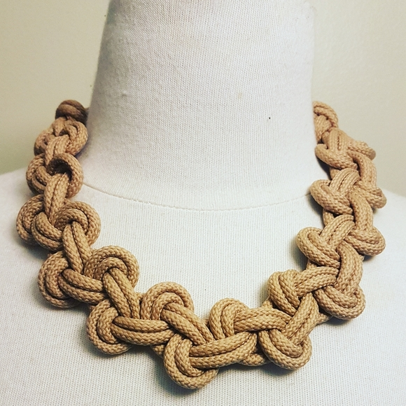 Handmade cord necklace